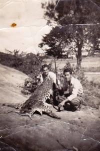 Franco Defina a caccia con una tigre