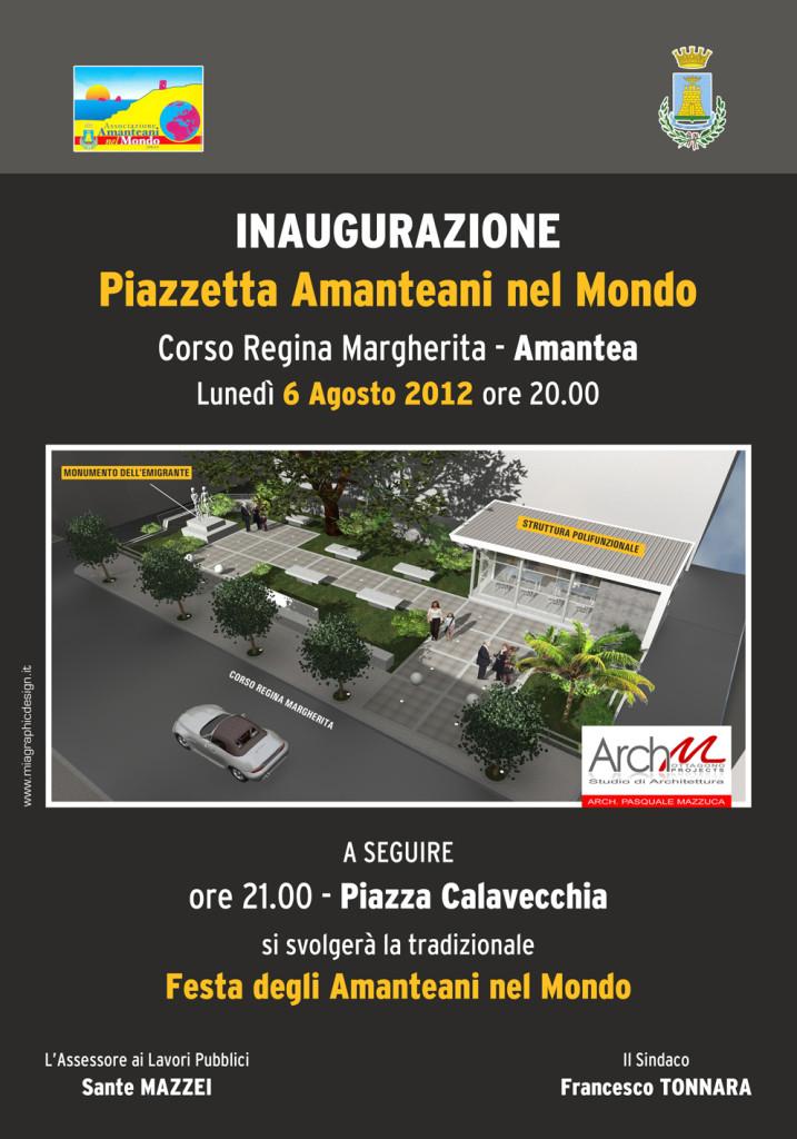 manifesto inaugurazione Piazzetta
