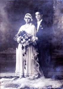 Antonio Aloe con sua moglie