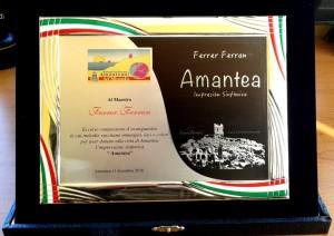Targa al M° Ferrer Ferran dall'Associazione Amanteani nel Mondo