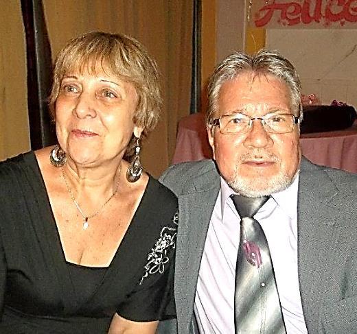 Franco con la moglie