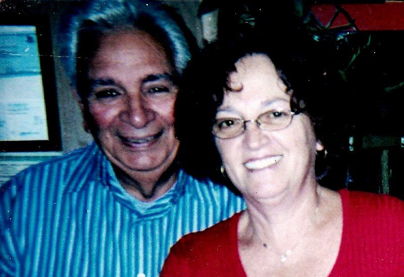 Rocco con la moglie Maria Morelli