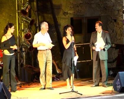 Prima giornata degli Amanteani nel Mondo - 2005-Premiazione di Franco Bazzarelli (poeta) e Nicola Politano (musicista)
