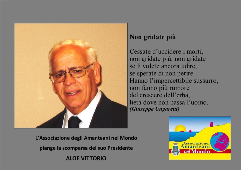 R.I.P. Presidente Vittorio Aloe