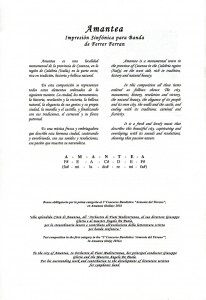 """Concerto Anteprima Internazionale del brano """"AMANTEA - Impresión Sinfónica"""" del M° Ferrer Ferran"""
