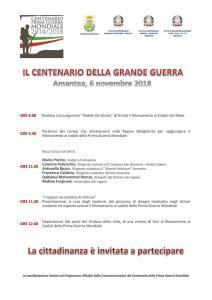 """Delegazione Associazione """"Amanteani nel Mondo"""" al Cerimonia per il Centenario della fine della Prima Guerra Mondiale - Amantea 2018"""