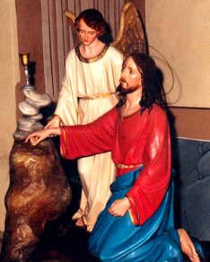 Gesù nell'orto degli ulivi, confortato da un angelo